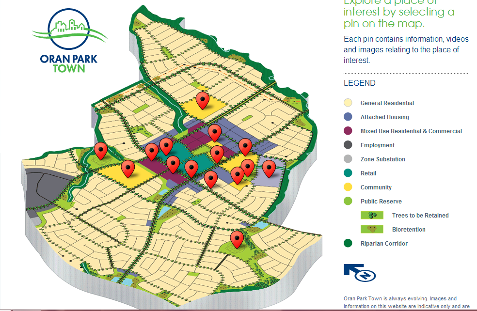 Land Use Map Oran Park Town - Us-land-use-map